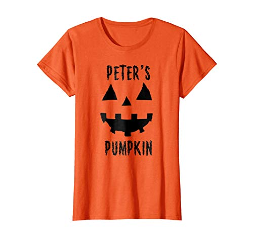 Womens Couples Costume Ideas Halloween T Shirt Peter's Pumpkin XL Orange -