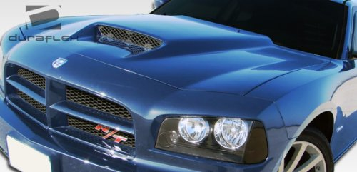 Duraflex ED-VXC-681 Ram Air Hood - 1 Piece Body Kit - Compatible For Dodge Charger 2006-2010