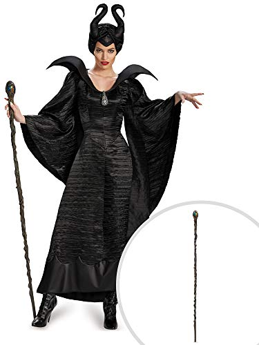 Maleficent Costume Kit Adult Large with Classic Staff