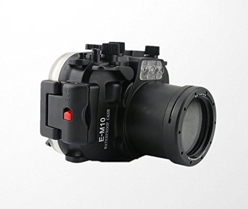Polaroid SLR Dive Rated Waterproof Underwater Housing Case For The Olympus EM10 Camera with a 14-42mm Lens