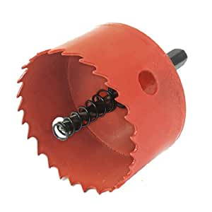 uxcellOrangered Bimetal Hole Cutting Tool 65mm Diameter Hole Saw