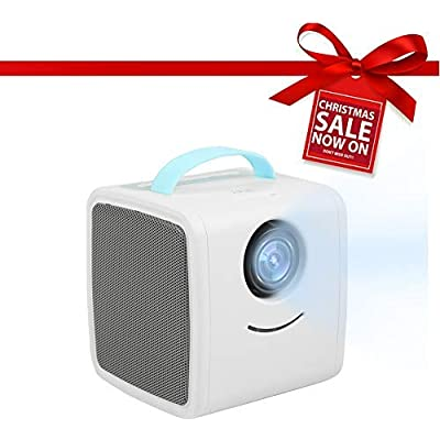 Garsent LED Projector  LED 1080P Mini Children Education Projector with Eye protection  Clear Stereo Sound Speaker Support HDMI VGA USB Portable Home Theater Video Projector  Blue