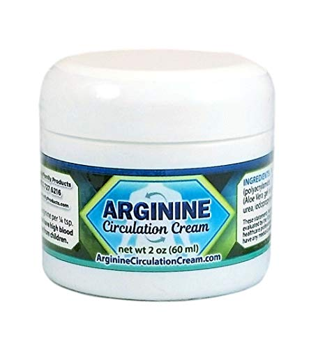 Arginine Circulation Cream With Menthol And L Arginine - Neuropathy Pain Relief - Supports Improved Circulation to Hands, Legs and Feet (2 Ounces)
