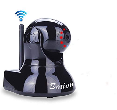 Sotion Video Baby Monitor, HD Wireless Pet Camera with Two Way Audio and Night Vision for Home/Indoor Security, Internet IP Surveillance WiFi Camera System with Motion Detection, Pan and Tilt ()