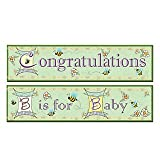 Beistle 15'' x 5' B Is For Baby Banners; 6/Pack