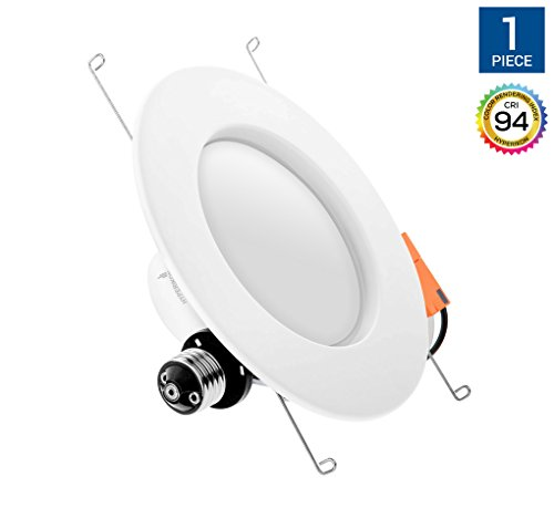 Energy Star Ceiling Light Fixture - Hyperikon 6 Inch LED Downlight (5 Inch Compatible), Dimmable, 14W (75W Replacement), Retrofit LED Recessed Lighting Fixture, 4000K (Daylight Glow), CRI94, ENERGY STAR LED Ceiling Light
