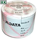 Ridata 8X DVD-R White Inkjet Hub Printable 600 Pack in Shrinkwrap