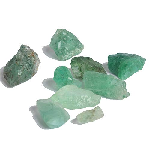 Authentic Green Emerald 50.00 Ct Lot of 9 Pcs Natural Emerald Rough Healing Crystals Gemstone
