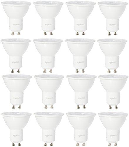 AmazonBasics 50 Watt Equivalent, Daylight, Dimmable, Gu10 LED Light Bulb | 16-Pack