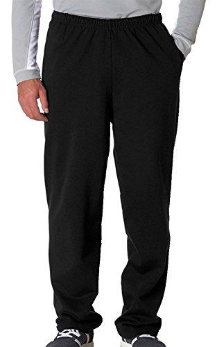 - Jerzees Men's Elastic Waist Open Bottom Pocket Sweatpant, Black, Large