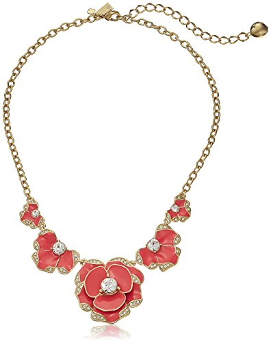 "kate spade new york ""Beach House Bouquet"" Geranium Pendant Necklace"