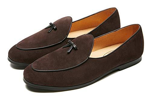 Men's Vintage Loafers for Men Belgian Loafers Slip-on Loafer Penny Loafer Casual Loafers US 7
