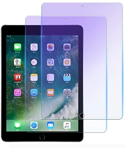 2 Pack 【Anti-Blue Light】 9.7ipad Screen Protector Compatible with Apple ipad 9.7 Tempered Glass ipad9.7 6gen Full Cover gen Pro 9.7