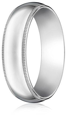 Standard-Comfort-Fit-Platinum-Milgrain-Wedding-Band-6mm