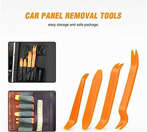 Yirind 4Pcs Auto Door Clip Panel Trim Removal Tool Kits for Car Dash Radio Audio Installer Pry Tool