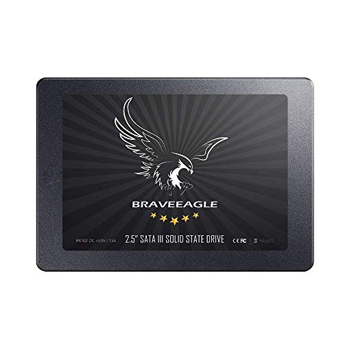 BRAVEEAGLE SSD 120GB Fast Read Write Speed 2.5 inch SATA 3.0 Solid State Drive 7mm SSD 2.5 for PC/Laptop (SSD Drive 120GB) (Best Read Write Speed Ssd)