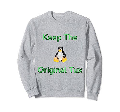 Tux Sweatshirt (Unisex Original Linux Symbol Mascot Tux Sweatshirt 2XL Heather Grey)