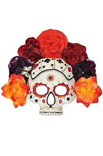 [Mememall Fashion Burning Gambit Day of the Dead Mardi Gras Masquerade Mask] (Dog Costumes For Mardi Gras)