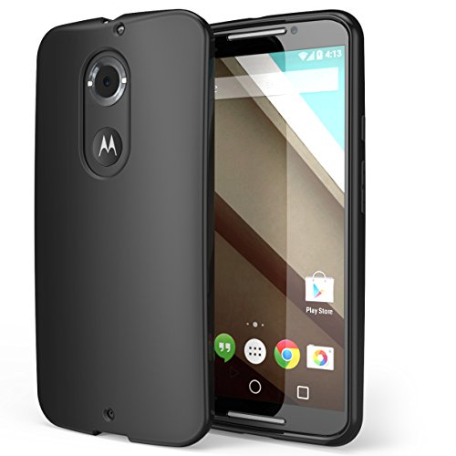 Moto X Case, i-Blason All New Motorolal Moto X 2nd Gen Flexible TPU Case Cover for Moto X 2nd Generation Case for Google Motorola Moto 2 (Black)