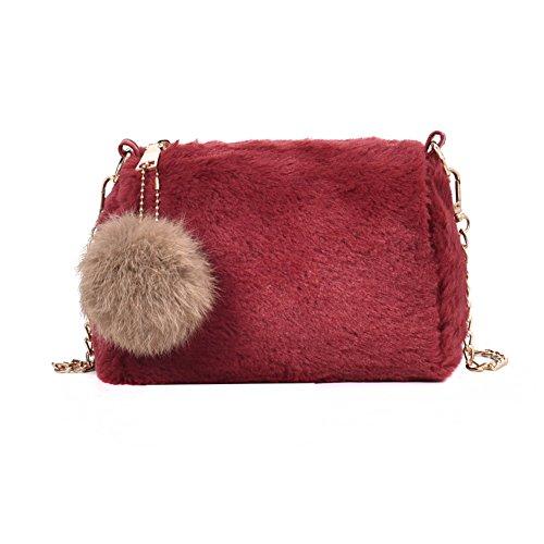 Plush Handbags, Messenger Bag Chain Bag Top-handle Bags Shoulder Bags For Women Small-e