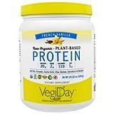 Natural Factors - Raw Organic Vegan Protein, Gluten Free, Dairy Free & Non-GMO, Creamy Vanilla, 15 Servings (17 oz)