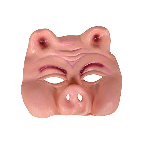 Funny Halloween Half Masks (Supersnailman Pig's Half Face Mask Funny Terrific Halloween& Party)