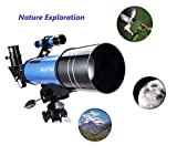 MaxUSee 70mm Refractor Telescope with Tripod