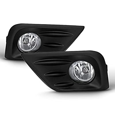For 2016-2020 Nissan Altima 4-Door Sedan Models Driver+Passenger Side Fog Lights Pair w/Switch Assembly: Automotive