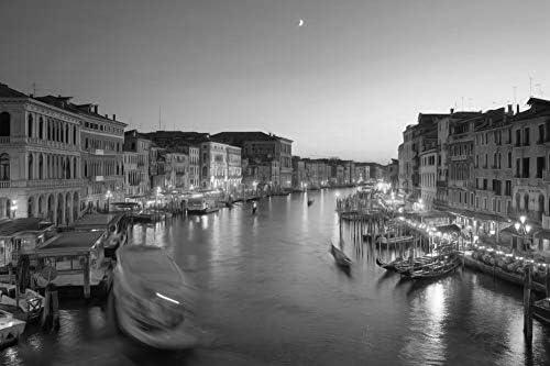 ヴェネツィアの壁紙の上の紫の空-世界の壁紙-#50861 - 白黒の キャンバス ステッカー 印刷 壁紙ポスター はがせるシール式 写真 特大 絵画 壁飾り50cmx33cm