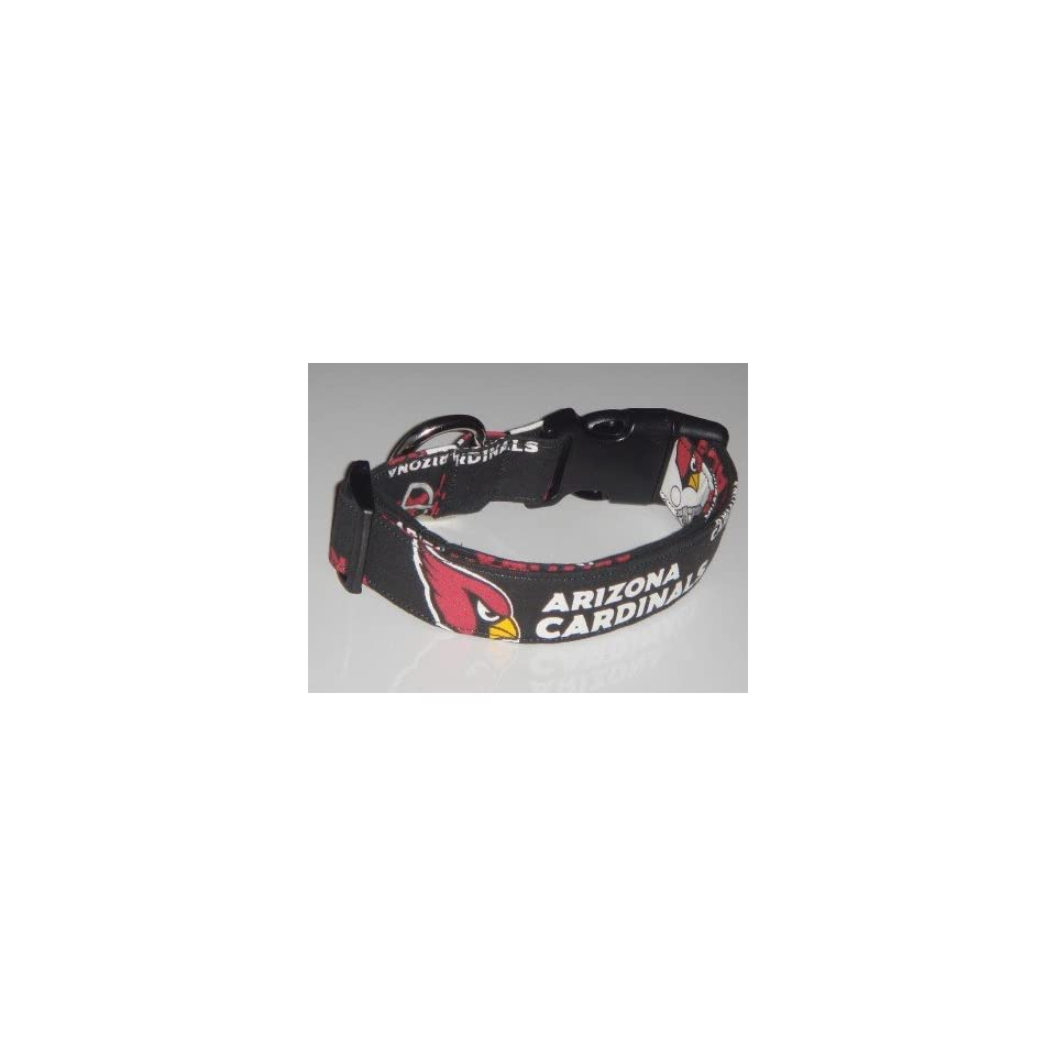 NFL Arizona Cardinals Football Dog Collar Black X Small 3/4