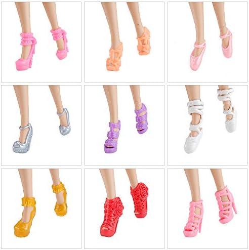 Lot de 60 paires de chaussures /à talons hauts pour poup/ée