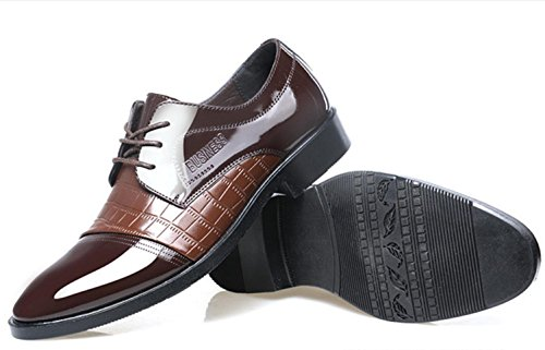 CSDM Scarpe casuali di affari di Big Promozione Uomini Scarpe casuali di affari degli uomini Le nuove scarpe da modello del coccodrillo calzano i pattini delle scarpe da sposa , brown , 44