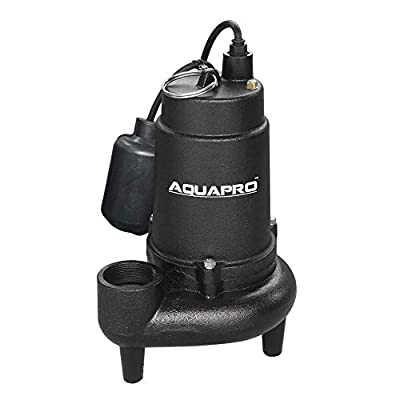 Toucan City Tape measure and AquaPro 3/4 HP Submersible Sewage Pump with Piggyback Tether Float Switch 41021-3