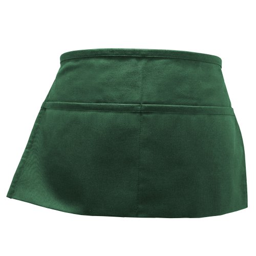 Fame Adult's 2 Pocket Waist Apron-Hunter Green-O/S
