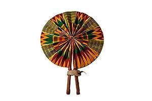 Folding Hand Fan from Africa (Kente Breeze)