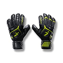 Designed with robust finger and thumb protection coupled with grippy, high-grade Super-Soft Storelli latex for both games and practices. Flat palm cut with roll-thumb (extra latex wrapping around the thumbs) for complete superior grip when ha...