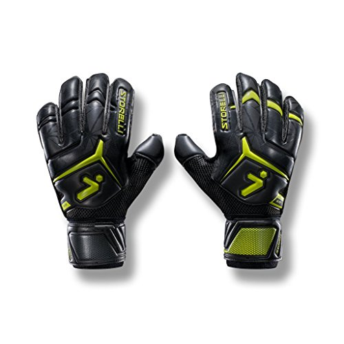 - Storelli Gladiator Elite 2 Goalkeeper Gloves |High Perfomance Soccer Goalkeeper Gloves |UV Resistant|Sweat-Wicking|Black