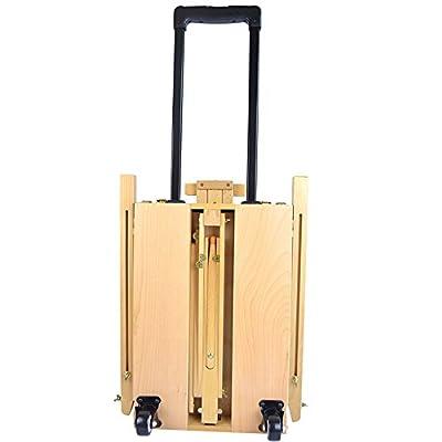 Caster folding trolley / beech travel oil painting box / sketch folding oil easel / belt harness kit
