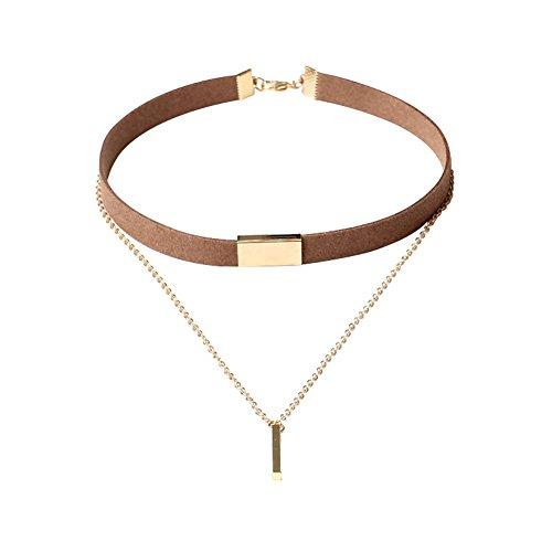 Brave Tour Classic Gothic Choker Necklace Set Multi - Layer Tassel Necklace (Multi Strand Dangle)