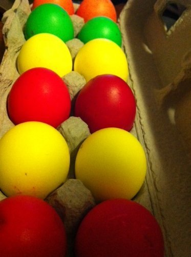 Eggs Easter Confetti (Cascarones (Confetti Eggs - One Dozen)--Colors Vary)