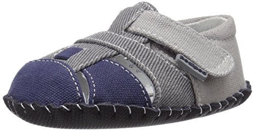 pediped Originals Harvey Sandal (Infant/Toddler), Grey Navy, Medium (12-18 Months E US Infant)