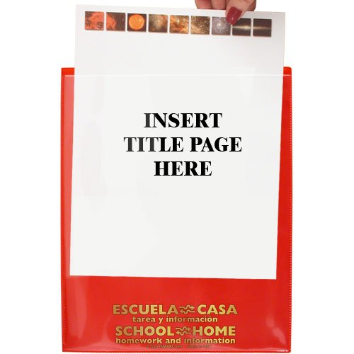 StoreSMART - School / Home Folders - Red - 25-Pack - Archival Durable Plastic - English/Spanish - Homework and Information - SH900SVSP-R25