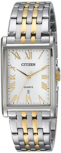 Citizen Men's Quartz Stainless Steel Casual Watch, Color:Two Tone (Model: - Bracelet Watch Two Mens Citizen Tone