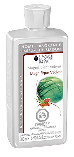 Magnificent Vetiver | Lampe Berger Fragrance Refill by  | for Home Fragrance Oil Diffuser | Purifying and perfuming Your Home | 16.9 Fluid Ounces - 500 millimeters | Made in France