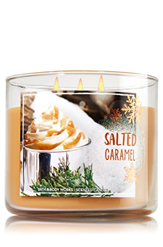 Bath and Body Works 3-wick Candle 2016 Winter Edition (Salted (Caramel Candles)
