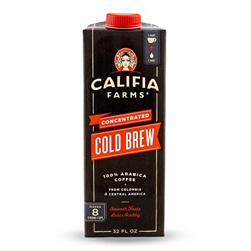 32 Farm - Califia Farms Concentrated Cold Brew Black Coffee, Black, 32 Ounce (Pack of 6)