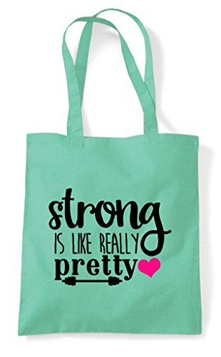 Bag Like Really Is Gym Tote Statement Mint Workout Shopper Pretty Strong qBROO