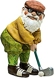 Roleeplay 9.8inch Golfing Gnomes Garden Decorations,Golf Gnomes Outdoor Funny,Golf Statues for The Yard,Garden
