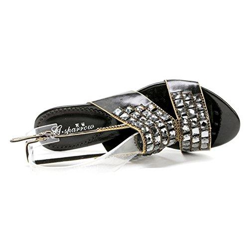 Mujer Nuevos Europea Diamantes Sandalias Verano Americana Y Salvajes Mujeres Sasa Con Imitación De Zapatos zq5wPxRRXI