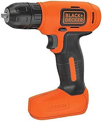 BLACK+DECKER BDCD8-QW - Taladro atornillador sin cable 7.2V con batería de litio